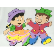 Conjunto Menino e Menina Caipira Grande em EVA  c/2un 39x53cm - Pet Toy