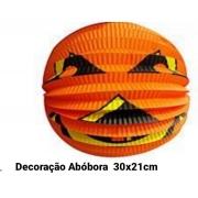 Decoração Abóbora Papel Medida 30 x 21 cm - Bazar Import