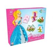 Jogo de Memória Princesa  40 peças - Pais e Filhos