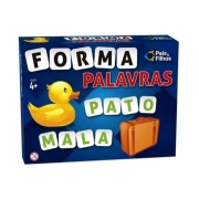 Jogo Didático Forma Palavras Com 160 Letras E 8 Cartelas - Pais e Filhos