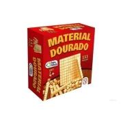 Jogo Material Dourado em Madeira 111 peças - Pais e Filhos