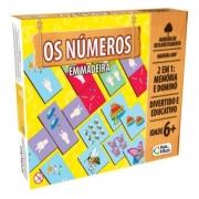 Jogo Os Números em Madeira 48 peças - Pais e Filhos