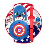 Kit Defensor Cartela 3 Peças Capitao Herois Brinquedo - Le Plastic