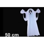 Lanterna Decorada Halloween Fantasma 50cm - Bazar Import
