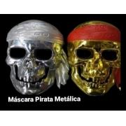 Máscara Pirata Metálica (As cores podem variar) - Bazar Import
