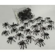 Mini Aranha Preta c/25 un 4cm - Mini Play