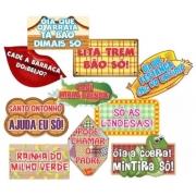Placa Junina em cartão c/10un  - Festança