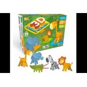 Quebra Cabeça 3D Safari 19 peças - Pais e Filhos