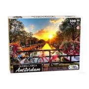 Quebra Cabeça Amsterdam 500 Peças - Pais e Filhos