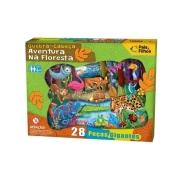 Quebra Cabeça Gigante Aventura na Floresta 28 peças - Pais e Filhos