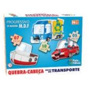 Quebra-Cabeça Progressivo de Madeira - Meios de transporte - 5/7/10 peças - Pais e Filhos