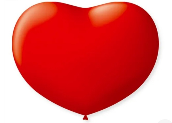 Balão Coração No 11 Vermelho c/50 un -