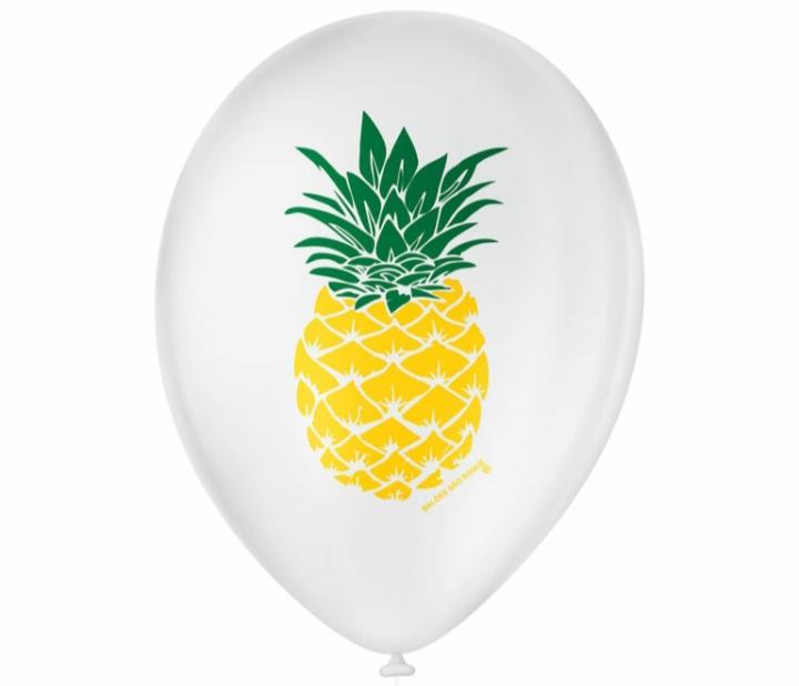 Balão No 9 Abacaxi Branco c/25 un -
