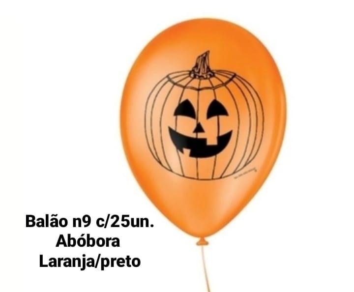 Balão No 9 Abóbora Laranja/Preto - São Roque
