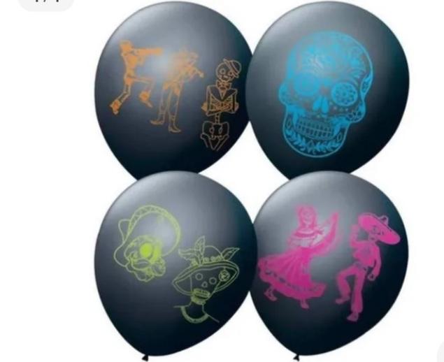 Balão No 9 Dia de Los Mortos  c/25 un -