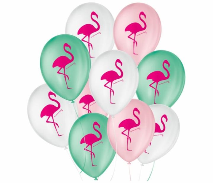 Balão No 9 Flamingo Sortidos  c/25 un -