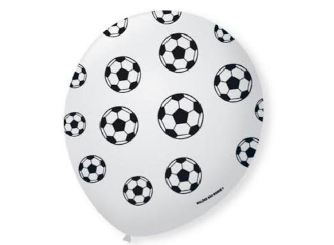 Balão No 9 Futebol Branco/Preto c/25 un -