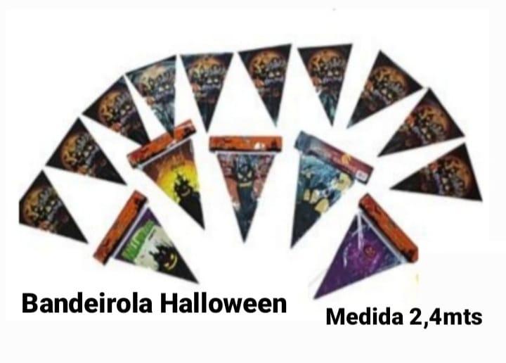 Bandeirola Decorativa Halloween 2x4 mts (As cores podem variar) - Bazar Import