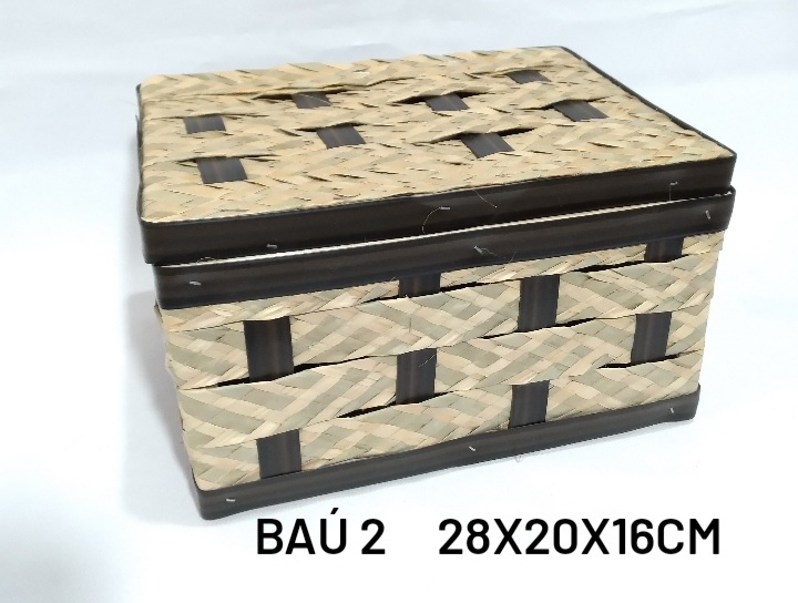 Baú No 2 Carnauba Medida 28x20x16cm - RD Artesanato