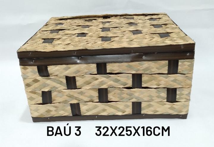 Baú No 3 Carnauba Medida 32x25x16cm - RD Artesanato