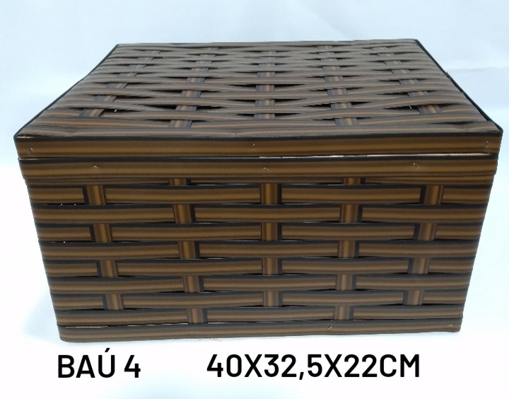 Baú No 4 Marrom Medida 40x32,5x22cm - RD Artesanato