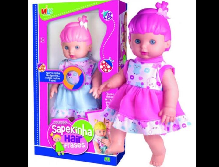 Boneca Sapequinha hair  Frases - Milk
