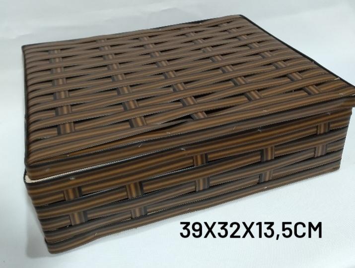Caixa Grande Marrom Medida 39x32x13,5cm - RD Artesanato