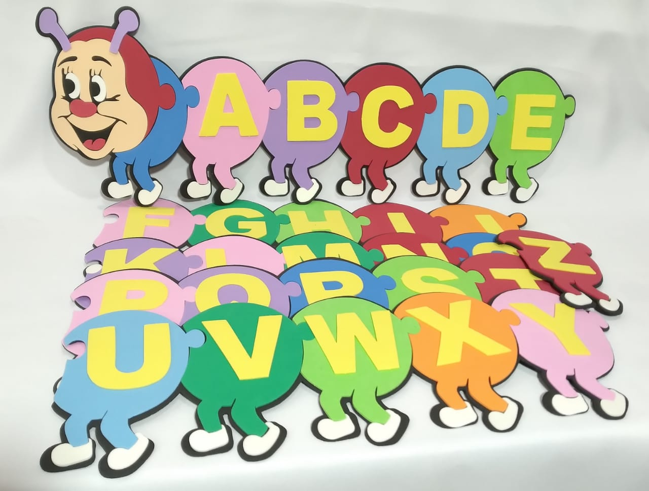 Centopéia Alfabeto em EVA - Pet Toy
