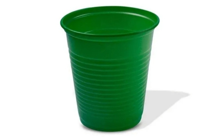 Copo Descartável 200ml verde escuro c/50un -