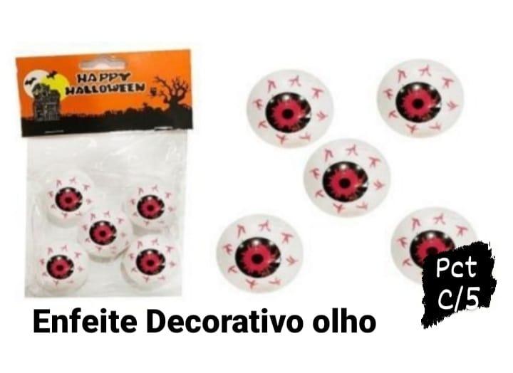Enfeite Decorativo Tipo Olho c 5 unidades - Bazar Import