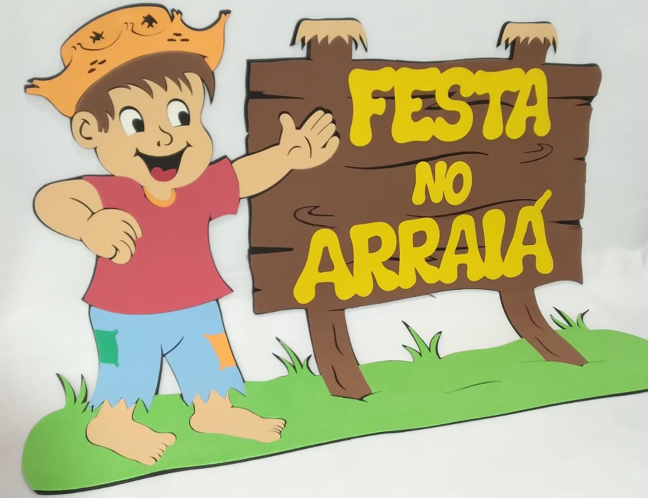 Faixa Festa no Arraia em EVA 75x59cm - Pet Toy