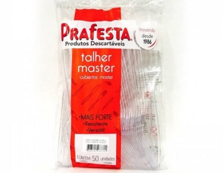 Garfo Master Cristal c/50un - Prafesta