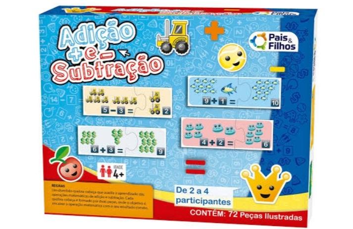 Jogo Adição e Subtração  - Pais e Filhos