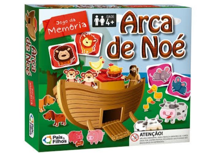 Jogo de Memória  Arca de Noé  40 peças - Pais e Filhos