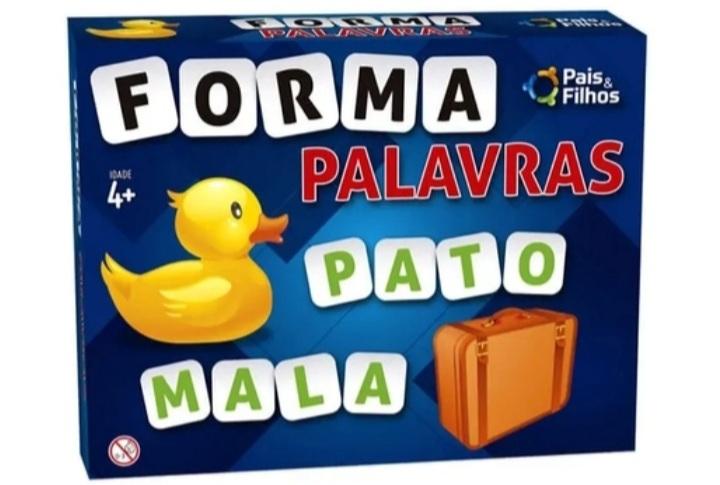 Jogo Didático Forma Palavras Com 160 Letras E 8 Cartelas