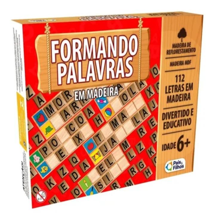 Jogo Formando Palavras  Madeira - Pais e Filhos