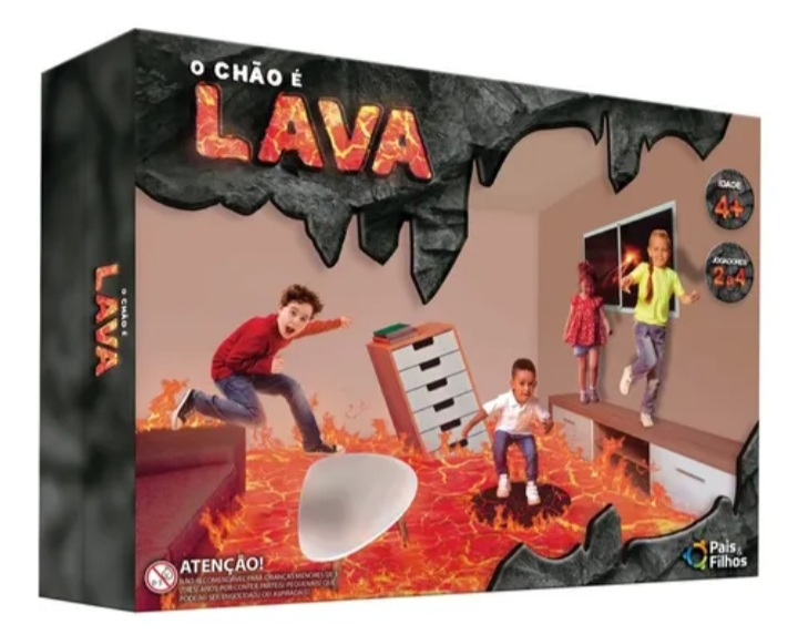 Jogo O Chão é Lava - Pais e Filhos