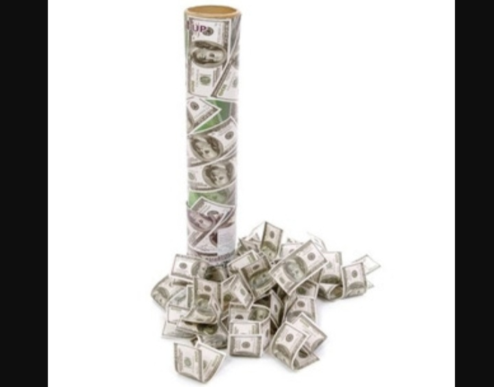 Lança Confete Dólar 28cm un  -