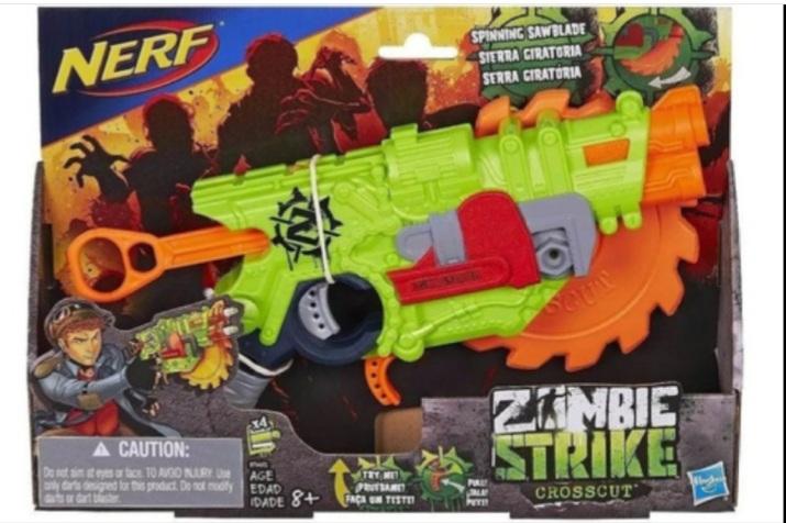 Lanca Dardo Nerf Zombie Striker Crosscut - Hasbro