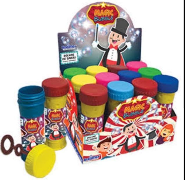 Bolha de Sabão Magic Bubble caixa com 12 unidades