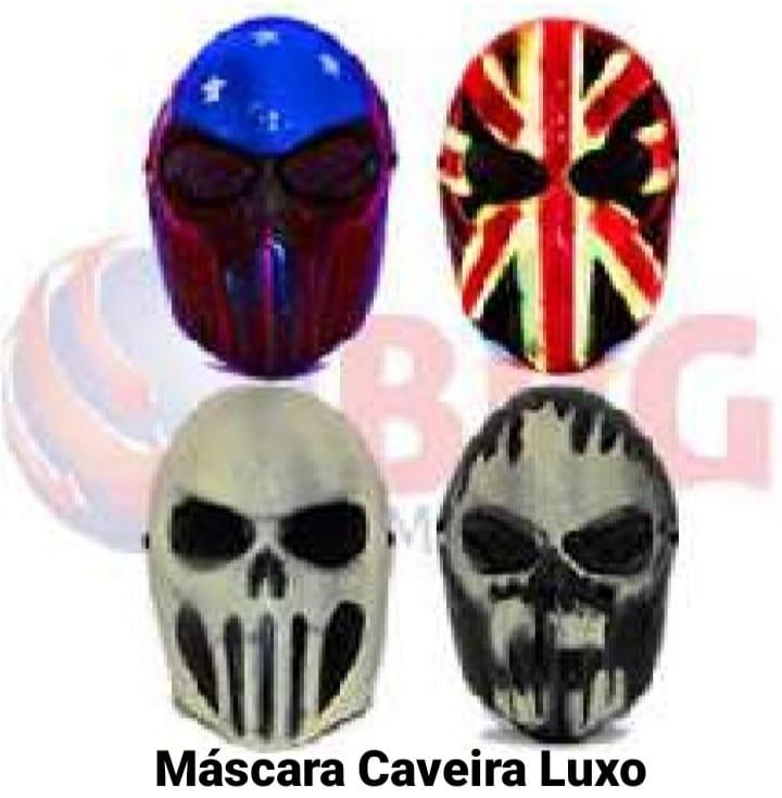 Máscara Caveira Luxo (As cores podem variar) - Bazar Import