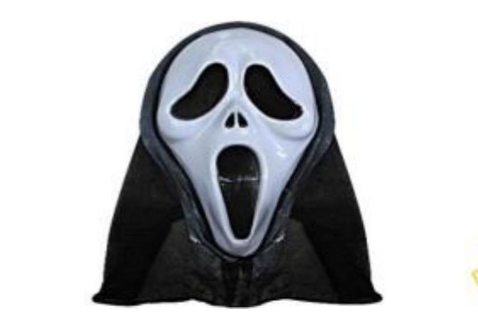 Máscara Pânico com Capuz  - Bazar Import