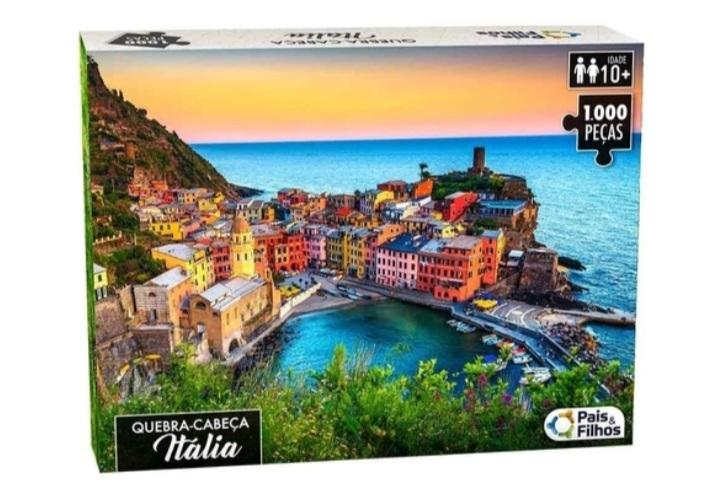 Quebra Cabeça 1000 peças Italia - Pais e Filhos