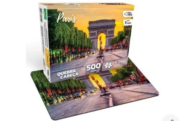 Quebra Cabeça 500 peças Paris - Pais e Filhos