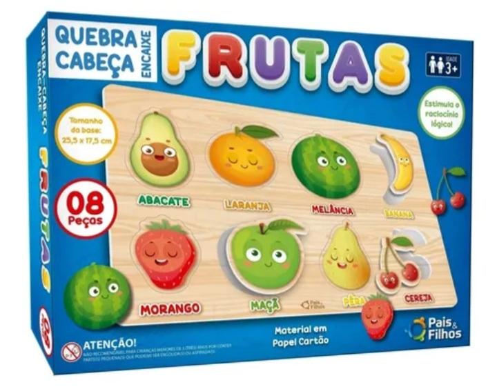 Quebra cabeça  Encaixe Frutas  8 peças - Pais e Filhos
