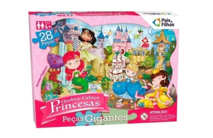 Quebra Cabeça Gigante Princesas 28 peças - Pais e Filhos