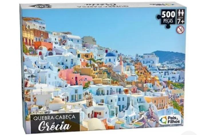 Quebra Cabeça Grécia 500 peças -