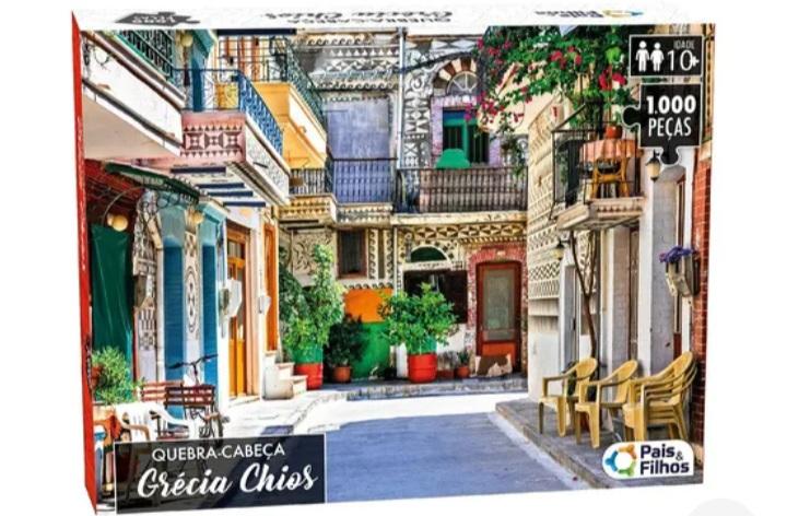 Quebra Cabeça Grécia Shios 1000 peças -