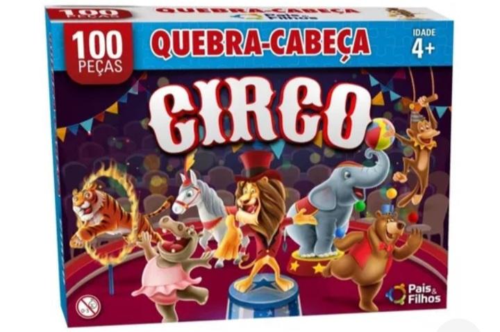 Quebra Cabeça O Circo 100 peças -