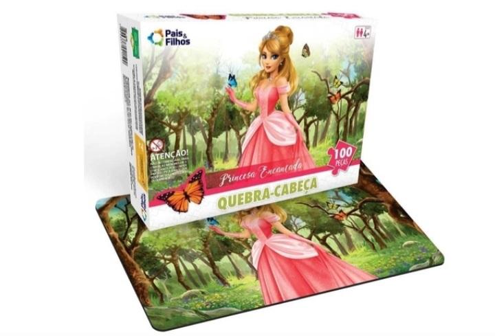 Quebra Cabeça Princesa Encantada - 100 Peças - Pais e Filhos